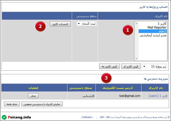 تصویر 14: رویه تعیین کاربران پروژه