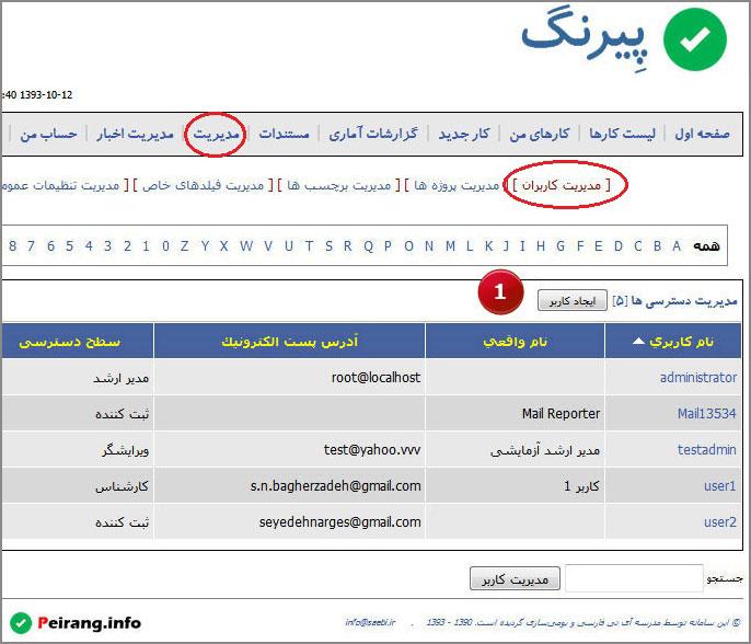 تصویر 2: ثبت کاربر جدید از طریق بخش مدیریت کاربران